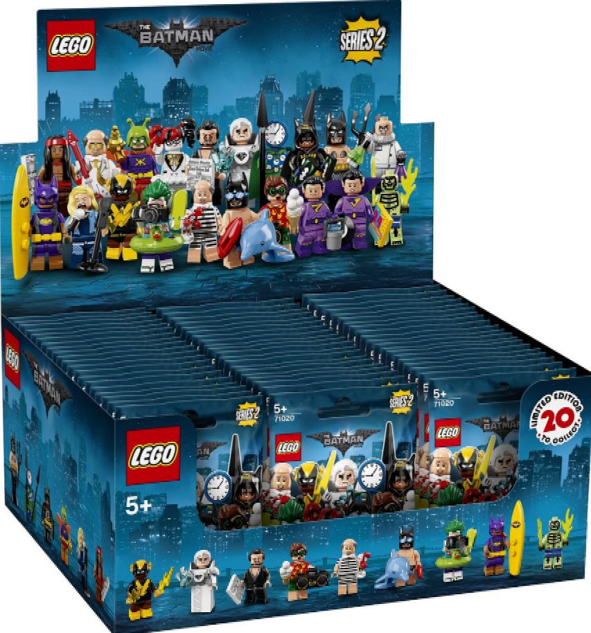 IMBALLATO LEGO statuine 71020 SCATOLA/CARTONE DA 60 BATMAN FILM SERIE 2