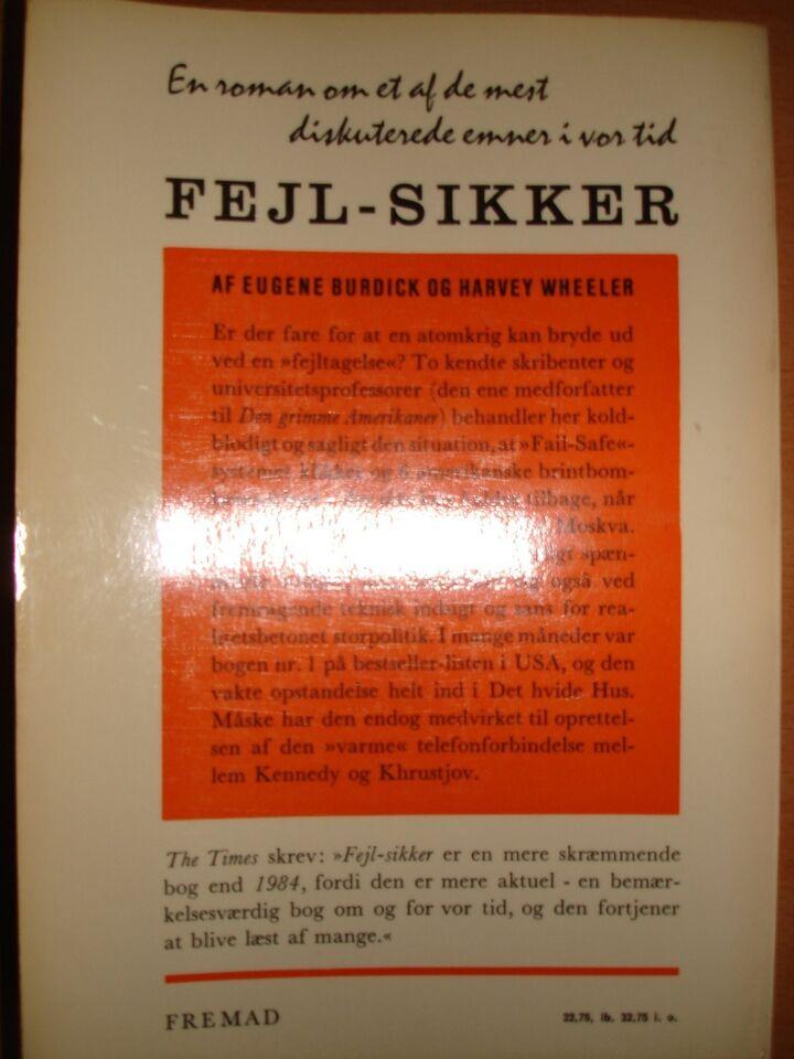Fejl - Sikker, Eugene Burdick & Harvey Weheeler, genre: