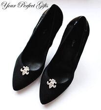 Fleur-de-lis Rhinestone Crystal Shoe Purse Clip Buckle