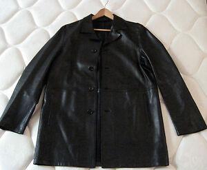 prada leather messenger bag - Prada Leather Jacket Coat Liner Less Over Coat Men Size 50 L RN ...