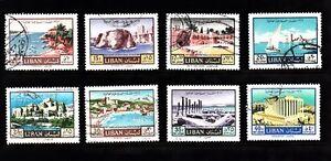 Liban-liban Utilisé Sc # C515-c522 Tourisme Année 1967-afficher Le Titre D'origine