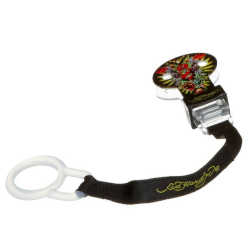 Baby Ed Hardy Official Tattoo Baby Soother Dummy Pacifier Clip Holder Chain