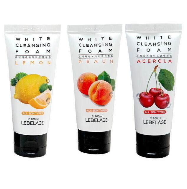 2 Pcs Lebelage White Cleansing Foam 100ml Sebum Cleanse Soothe Whitening Korea