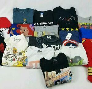 Wholesale-Lot-Of-18-T-Shirts-Marvel-DC-Disney-Star-Wars-Spiderman-Avengers