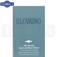 1981 El Camino Owners Manual Bound