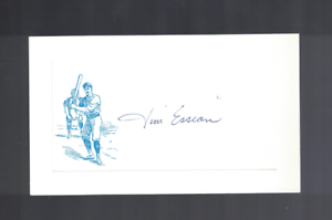 Jim Essian Chicago White Sox Signed Vintage Index Card W/Our COA RH1
