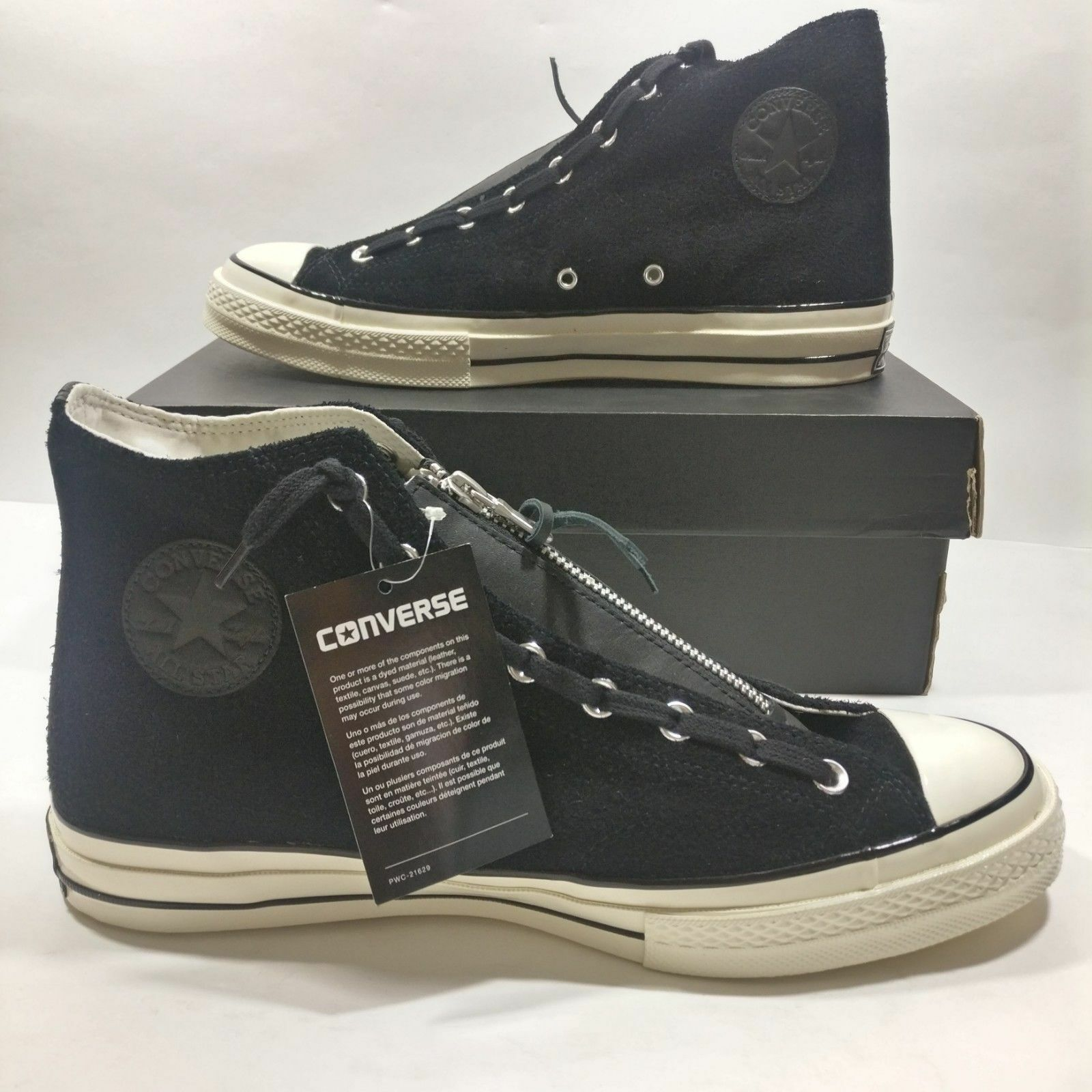 hommes Converse Chuck Taylor All Star Zip High noir blanc Chaussures Multi