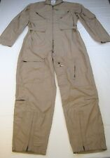 US Military Coveralls Type 1 Class 2 CWU-27/P Tan Flyers Flight Suit 44 R EUC