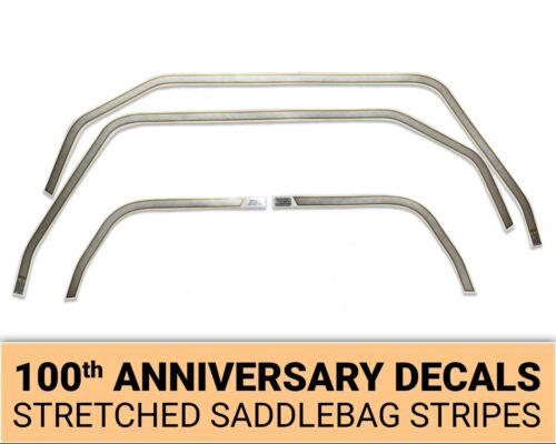 Harley Davidson 100th Anniversary stretched saddle bag decals stripes # 35