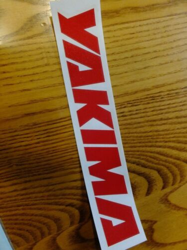 """8/"""" Yakima RACK STICKER DECAL ride bike race MTB BMX bicycle Red Letters"""