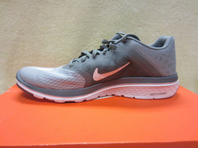 detailed look ee0ef 06ec0 New Nike FS Lite Run 3 Mens Size 8 Running Athletic Shoes Grey/White  807144-008