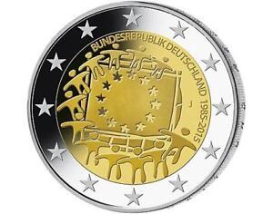 2-Euro-Deutschland-2015-30-Jahre-Europaflagge-Europaeische-Flagge-Mz-J