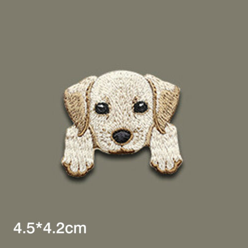 Iron On Badge Diy Fabric Applique Craft Cute Dogs Embroidered Patches Sew On