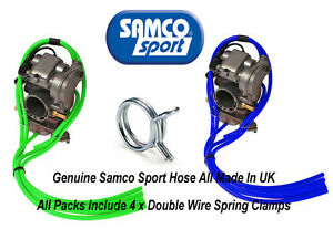 Kawasaki KXF 450 Samco Silicone Carb Vent & Vacuum Hose Pack & Clips 3mm ID KX F