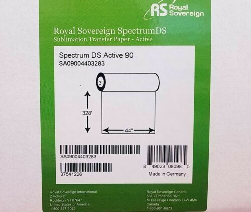 "Royal Sovereign 64/"" x 492/' Spectrum DS-ACTIVE 90 Dye Sublimation Transfer Paper"
