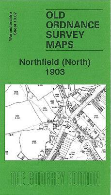 OLD ORDNANCE SURVEY MAP NORTHFIELD SOUTH 1903 STATION TURVES GREEN BIRMINGHAM