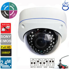 HD CVI 1080P 2.4MP Sony CMOS Vandal Proof  Varifocal 2.8-12mm Dome camera 4 in 1