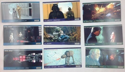 1997 Star Wars Trilogy Widevision 9 Card Pepsi Promo Set