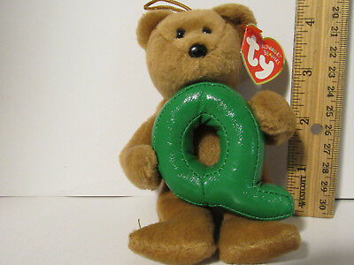 "TY Teddy Bear LETTER INITIAL NAME /""Z/"" ALPHABET BEANIE Christmas ORANAMENT NEW"