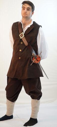 Medieval-Pirate-Buccaneer-LARP-Mens-WILL TURNER BUCCANEER toutes tailles