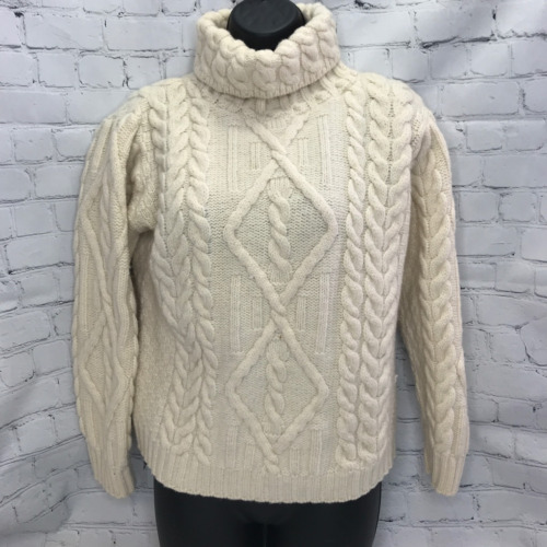 Inis Crafts Womens Pullover Sweater White 100% Wo… - image 1