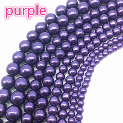 4//6//8//10mm imitation de perles perles de verre Loose Spacer Beads À faire soi-même Fabrication De Bijoux