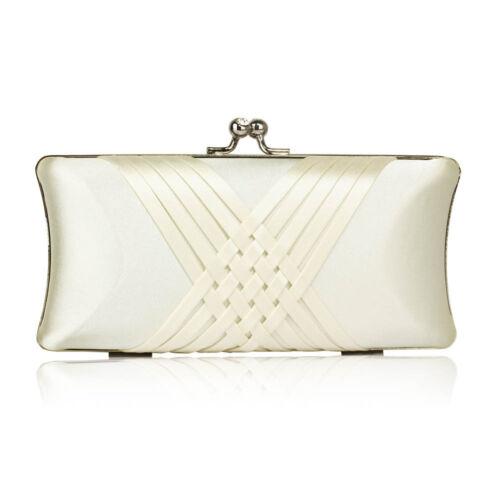 Womens Designer Clutch Ladies Evening Wedding Clutch Bag Purse
