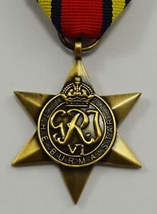 British World War 2 Replica Service/Campaign Medal BURMA STAR Commonwealth WW2