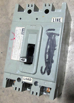 FPE Federal Pacific NA140 1 Pole 40 Amp Circuit Breaker NA THICK RED HANDLE