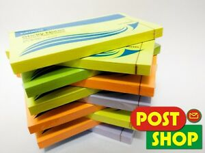 1000-Sticky-notes-Neon-colours-76-x-127mm-3-034-x-5-034-10-packs-of-100-sheets