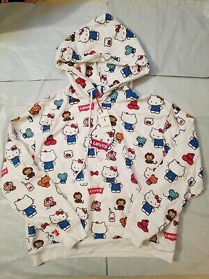 Levi's X Hello Kitty Sanrio Unbasic White Hoodie Size S Small | eBay