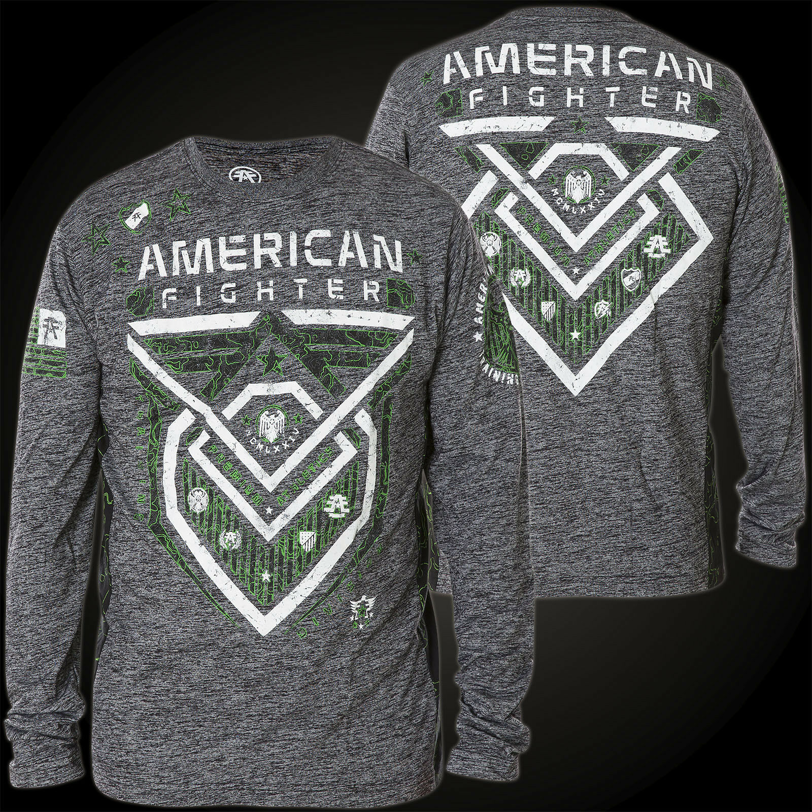American Fighter by Affliction Thermal Kendrick Topographic Grey