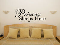 Princess Sleeps Here Nursery Children's Bedroom Decal Wall Art Sticker Picture
