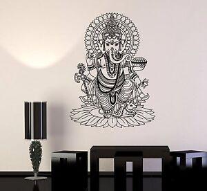 Vinyl Wall Stickers Ganesha India Hindu God Home Decoration Mural