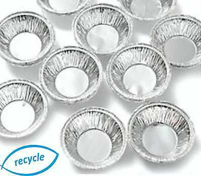 Small Deep Foil Pie Dishes Mince Fruit Apple Pies Cases Tins Round Dish Baking