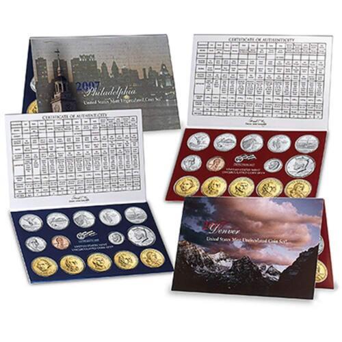 SEALED 2007 P /& D US Mint Uncirculated 28 Coin Set U07 Original Packaging