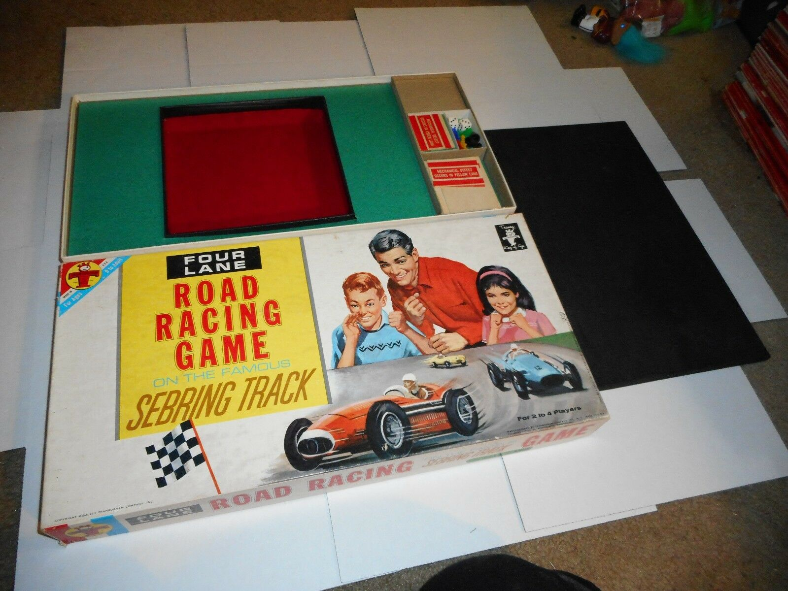 1963 Transgram Four Lane Road Racing spel on the Famous Sebring Track - S11
