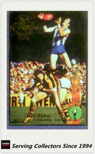 1994 Select AFL Cazaly Trading Card Gold Card G8 Phil Baker North Melbourne