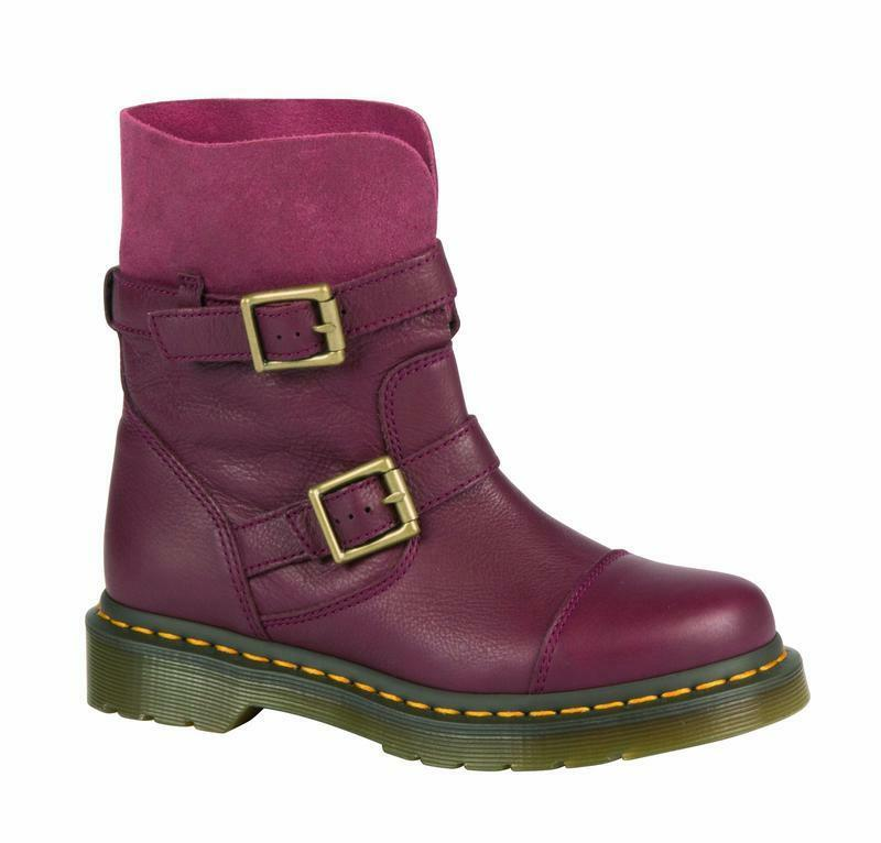 Dr Martens doc botas Kristy slouch Boot Cherry-red 20876600 el original