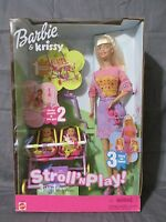 Brand Rare Barbie And Krissy Stroll 'n Play 3-in-1 Fun 2001 Mattel 50964