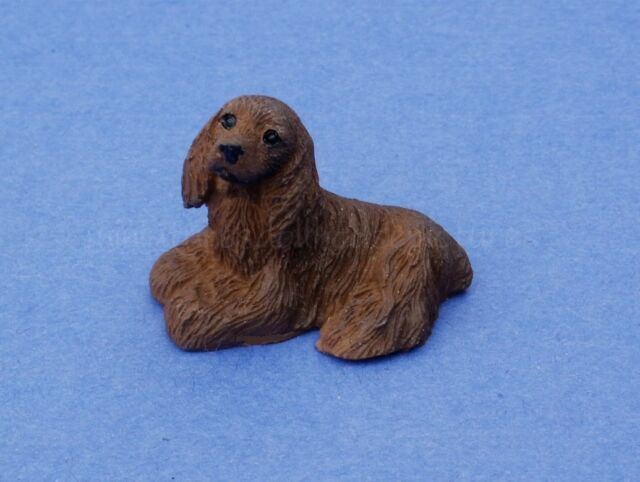 Miniature Dollhouse American Cocker Spaniel Dog New