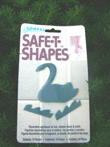 Compac Safe T Shapes Non Slip Safety Shower Treads Bathtub Decals Green Swan Tub