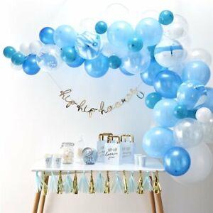 Blue-Balloon-Garland-Arch-wedding-bride-marble-baby-birthday-confetti-DIY-gift