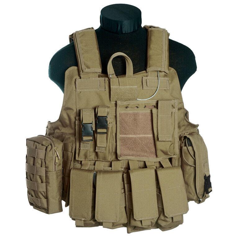MIL-TEC M.RELEASE MOLLE Military Tactical Combat Vest Pouches