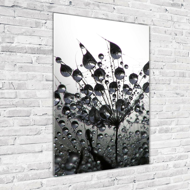 Wandbild Kunst-Druck auf Hart-Glas hochkant 70x100 PusteBlaume