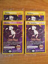 SEALED Pokemon COMPLETE WB Card PROMO Electabuzz Mewtwo#3 Pikachu#4 Dragonite#5