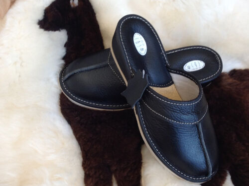 New Women Nurse White Wooden Flip Flop Leather Slippers Wedge Garden Home decor