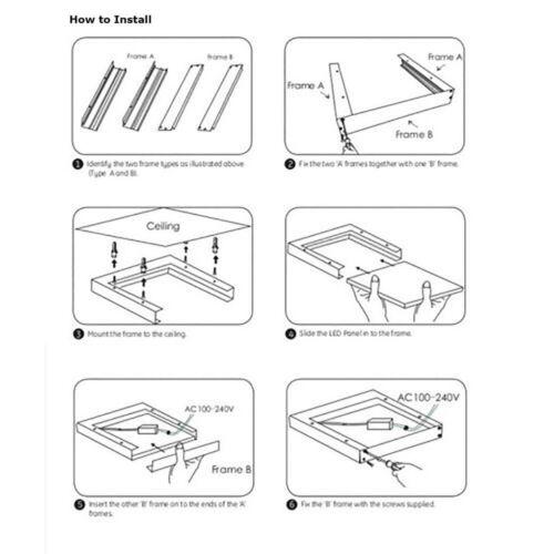 Surface Mount Kit for 600 x 600 LED Ceiling Panel Box Frame Sliver S247