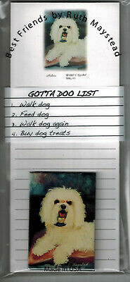 Set of 2 Pads Yorkie Terriers By Ruth New Yorkshire Terrier Magnetic List Pad