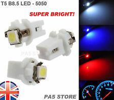 3x T5 B8.5 Dashboard LED WHITE (3pcs)- Super Bright 5050 Bulbs Quality. UK Post